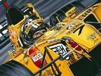 Damon Hill 'Farewell to a Champion' Framed Print, ....